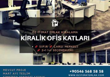 ŞEHRİN KALBİNDE KİRALIK OFİS KATLARI