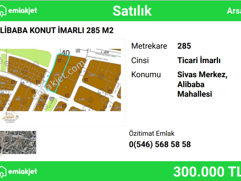 ALİBABA KONUT İMARLI 285 M2