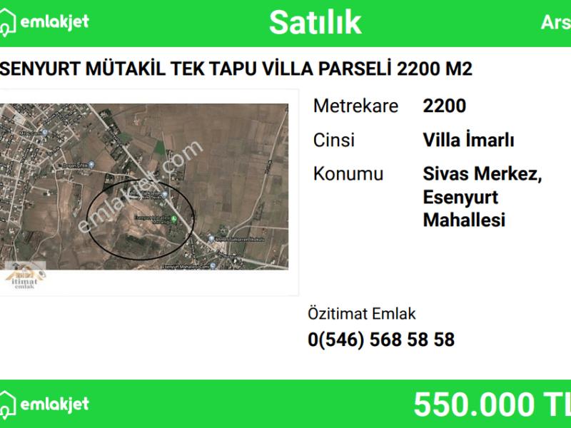 ESENYURT MÜTAKİL TEK TAPU VİLLA PARSELİ 2200 M2