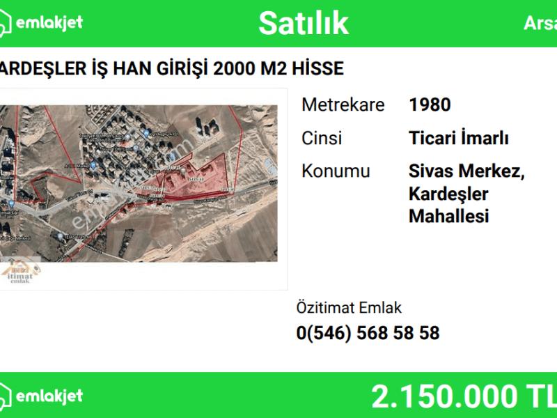 KARDEŞLER İŞ HAN GİRİŞİ 2000 M2 HİSSE